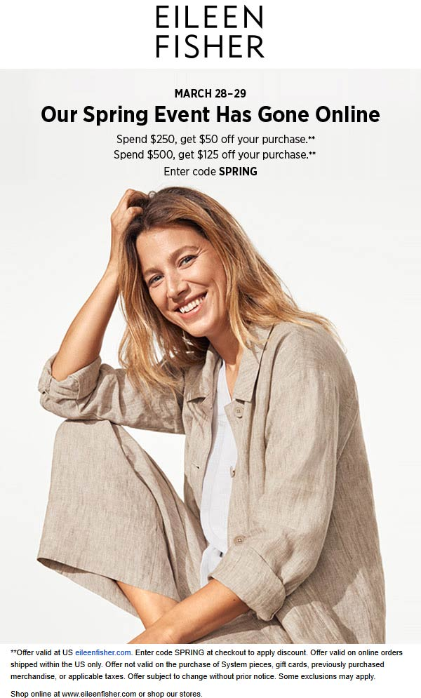 Eileen Fisher coupons & promo code for [June 2020]