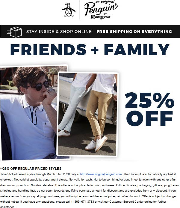 Original Penguin coupons & promo code for [October 2020]