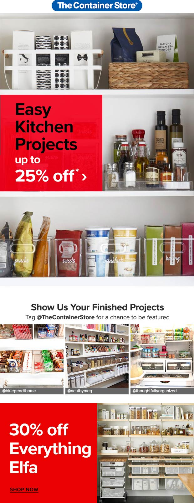 Container Store coupons & promo code for [April 2021]