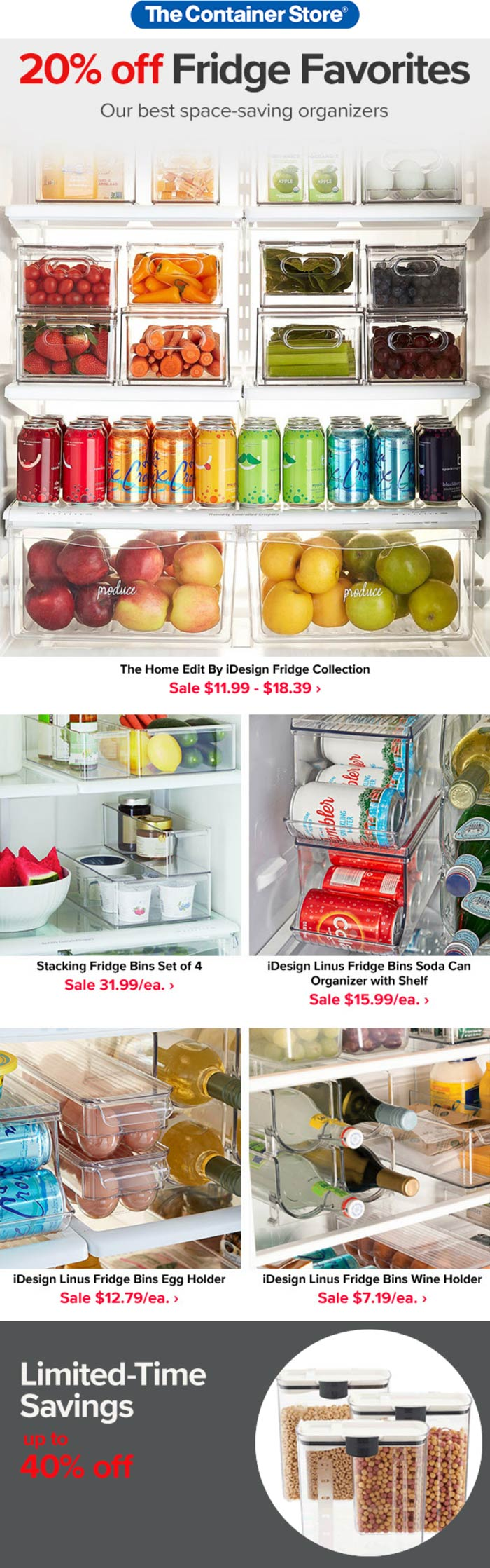 The Container Store stores Coupon  20% off fridge organizers & more at The Container Store #thecontainerstore