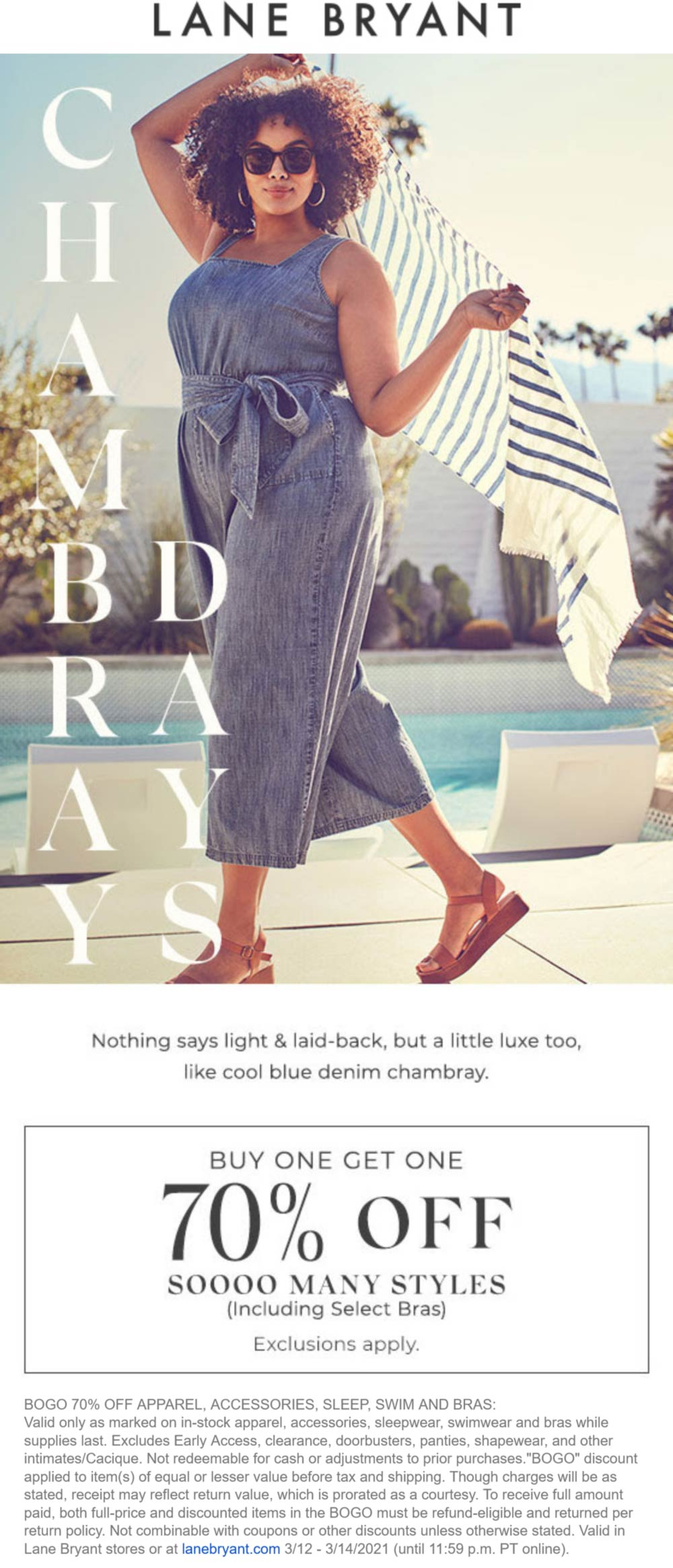 Lane Bryant stores Coupon  Second item 70% off at Lane Bryant, ditto online #lanebryant