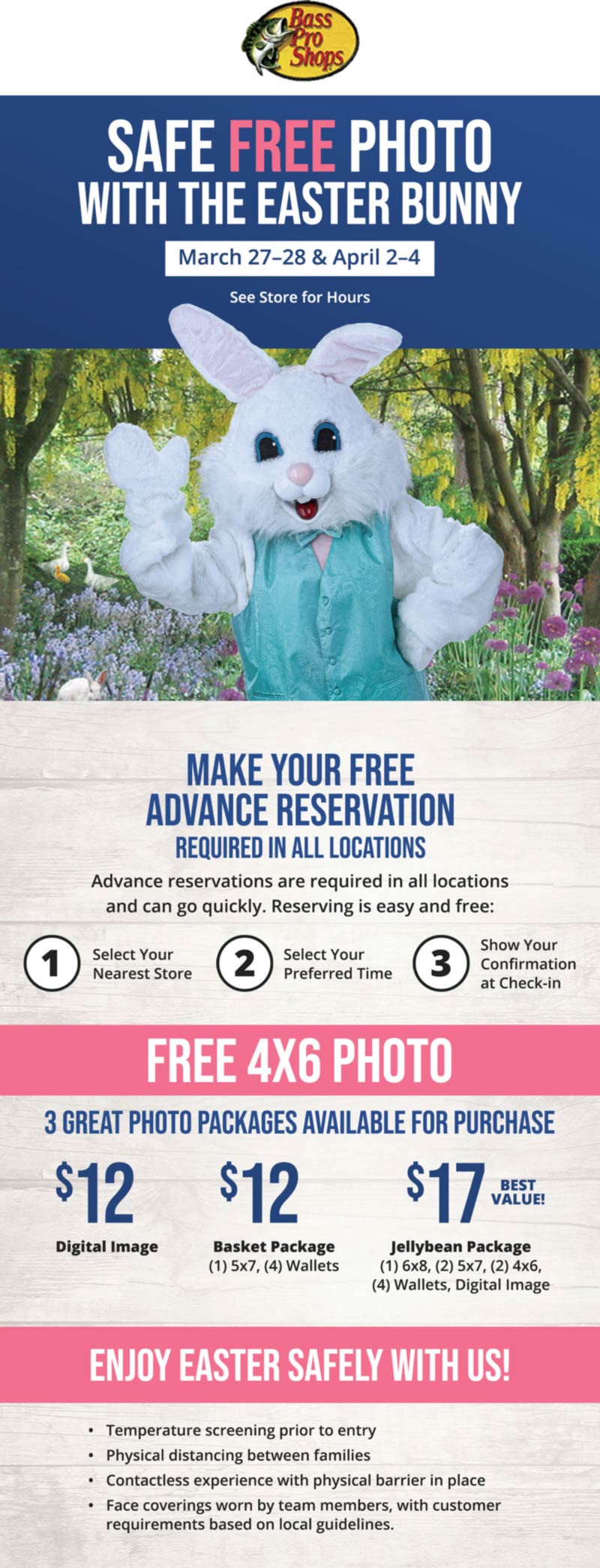 Bass Pro Shops stores Coupon  Free 4x6 photo with the Easter bunny at Bass Pro Shops #bassproshops