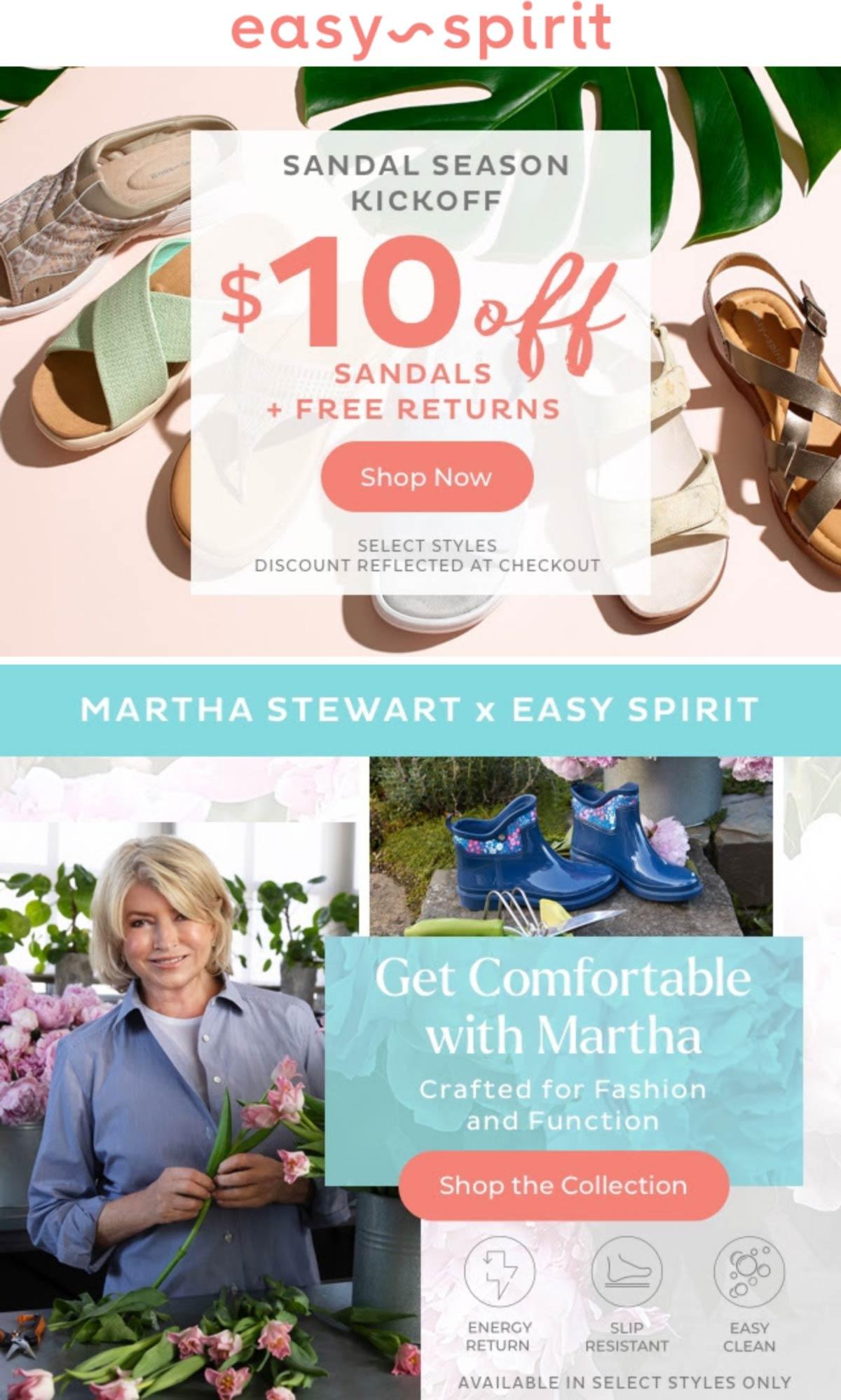 Easy Spirit stores Coupon  $10 off sandals at Easy Spirit #easyspirit