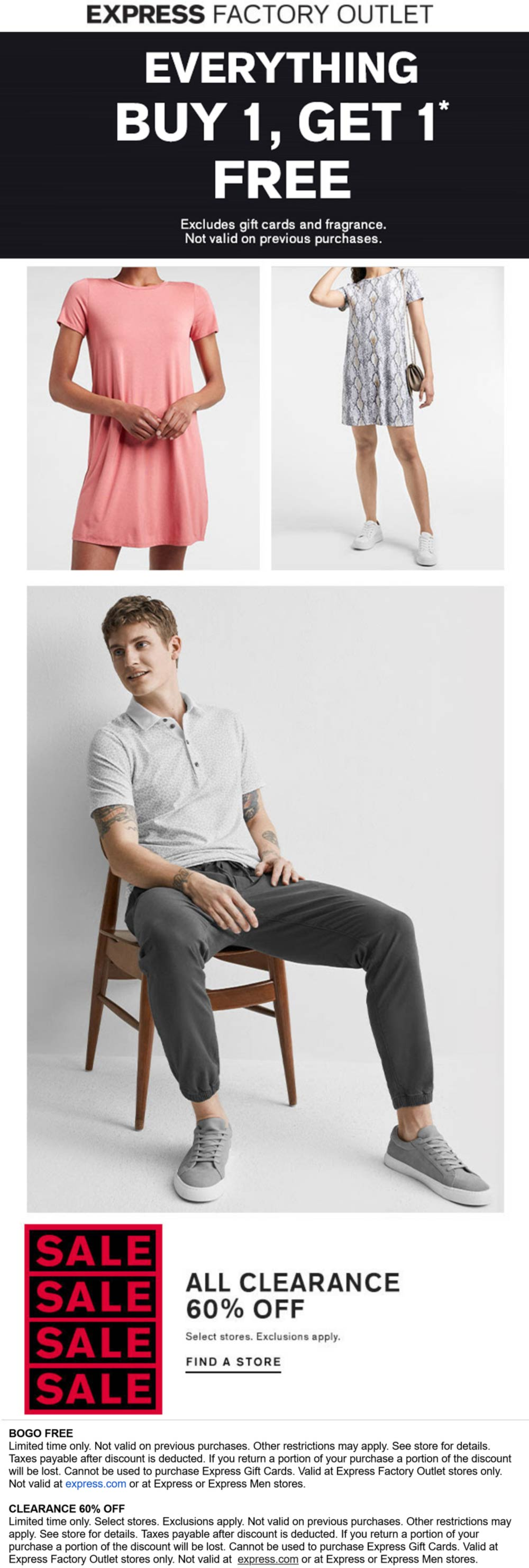 Express Factory Outlet stores Coupon  Second item free on everything at Express Factory Outlet #expressfactoryoutlet