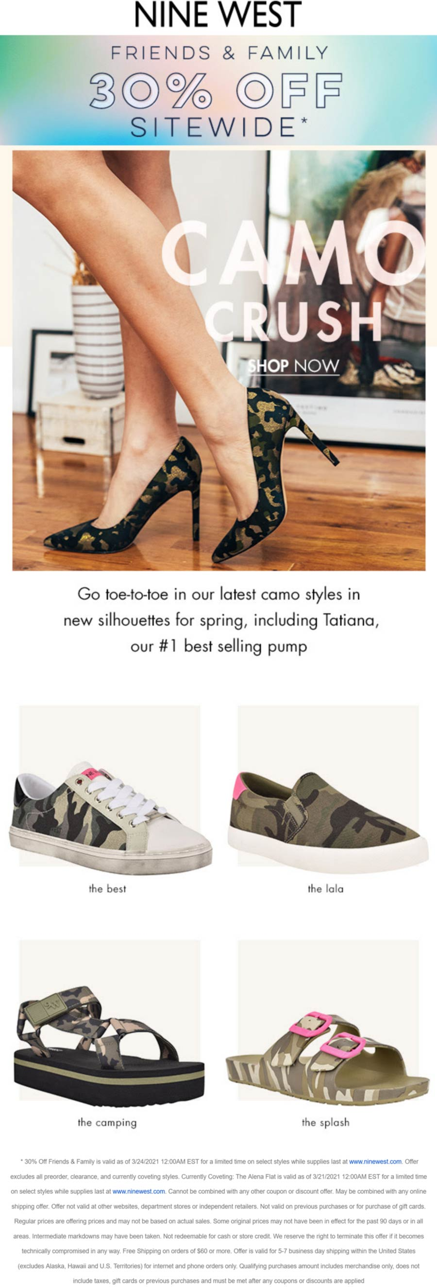Nine West stores Coupon  30% off everything online at Nine West #ninewest