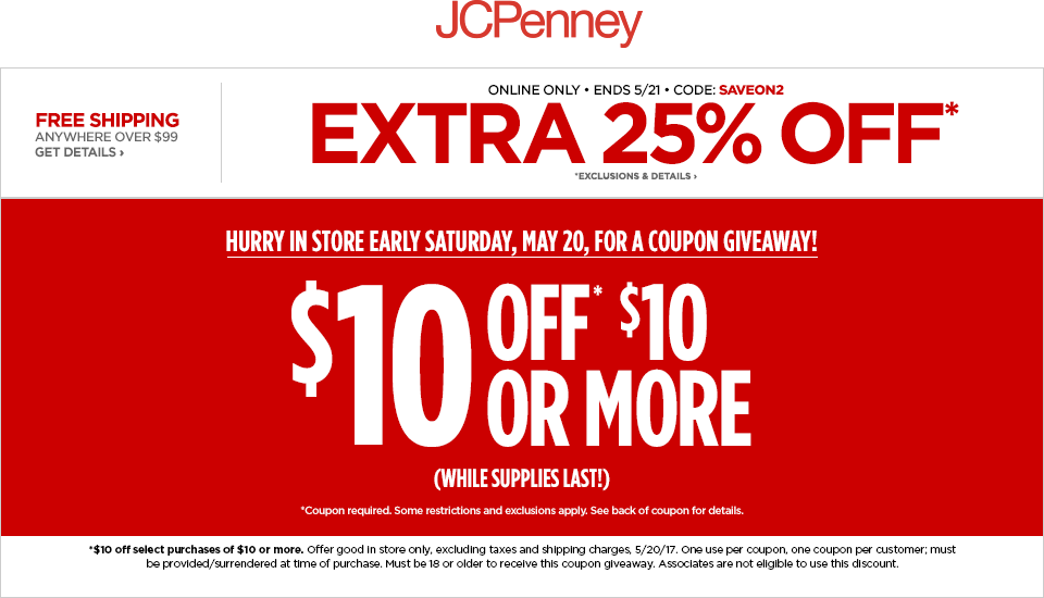 jcpenney coupons codes discounts free coupons 2017