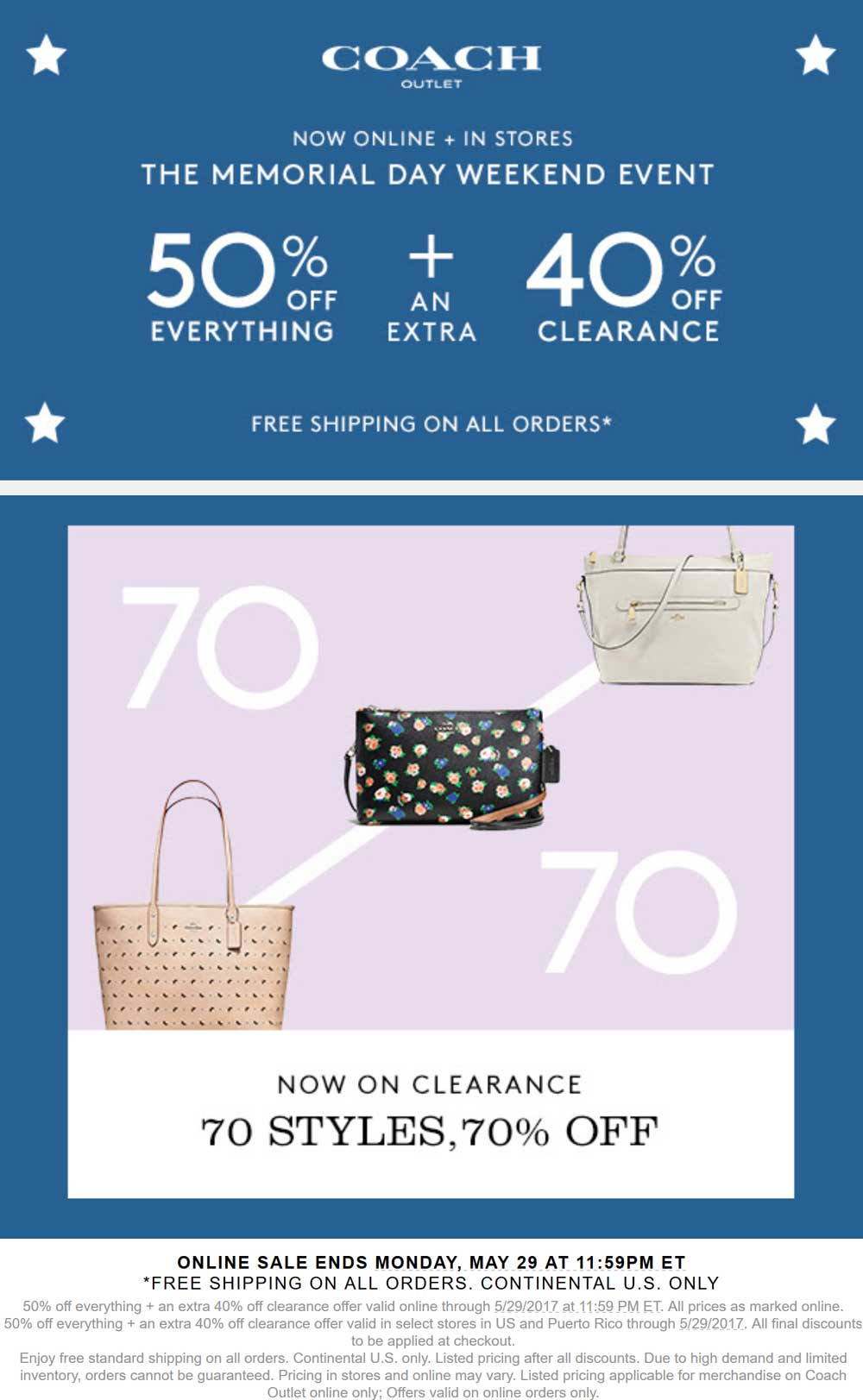 coach outlet free shipping promo code 2018