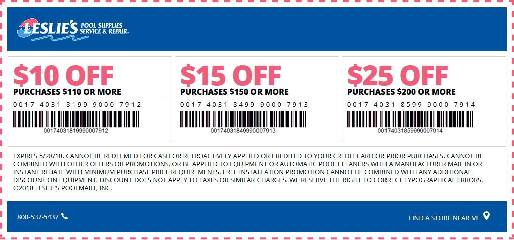 leslies pool coupons codes