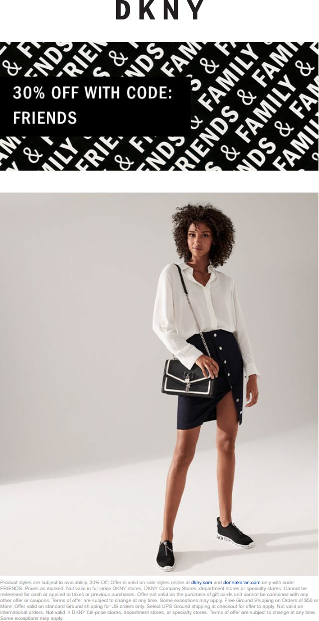 DKNY coupons & promo code for [November 2020]