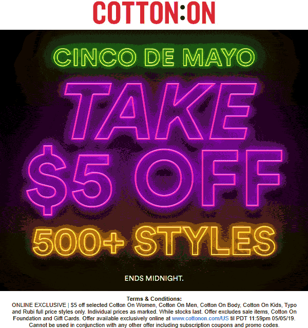 Cotton On coupons & promo code for [January 2021]