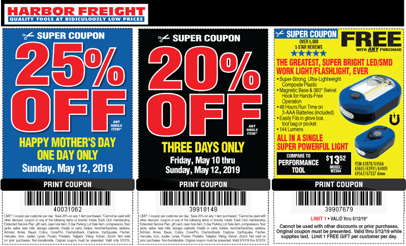 Harbor Freight Tools coupons & promo code for [April 2021]
