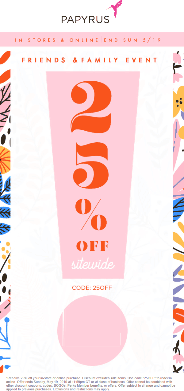 Papyrus Coupon July 2019 25% off at Papyrus, or online via promo code 25OFF
