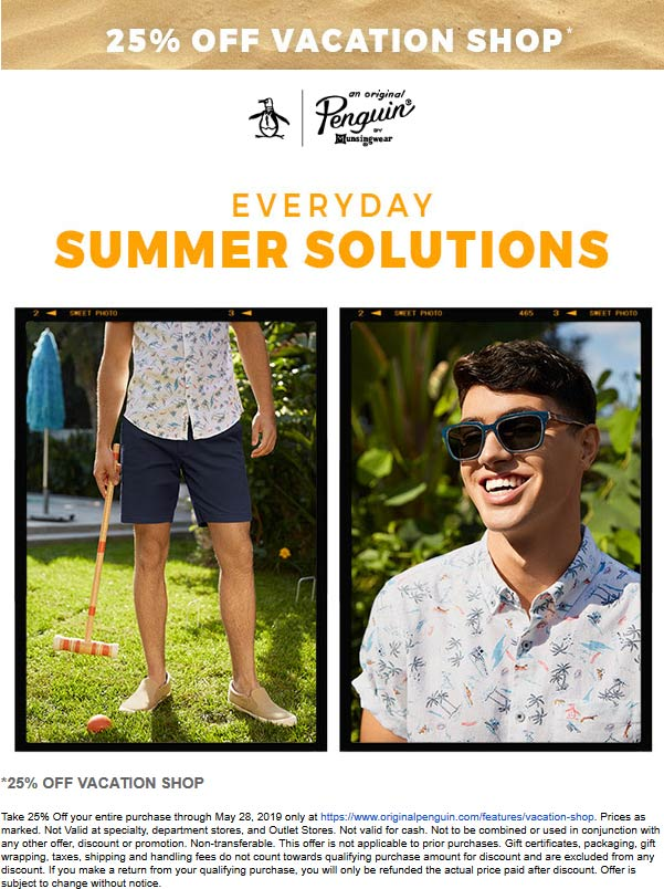 Original Penguin coupons & promo code for [May 2021]