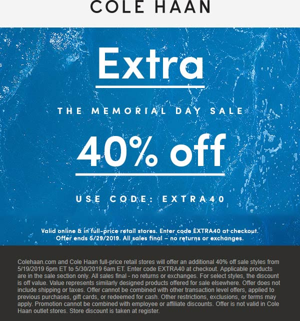 Cole Haan coupons & promo code for [January 2021]