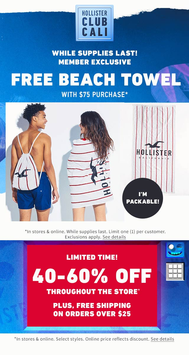 Hollister coupons & promo code for [September 2020]