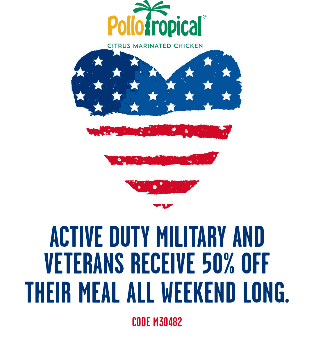 Pollo Tropical Coupon February 2020 Military enjoy 50% off at Pollo Tropical restaurants