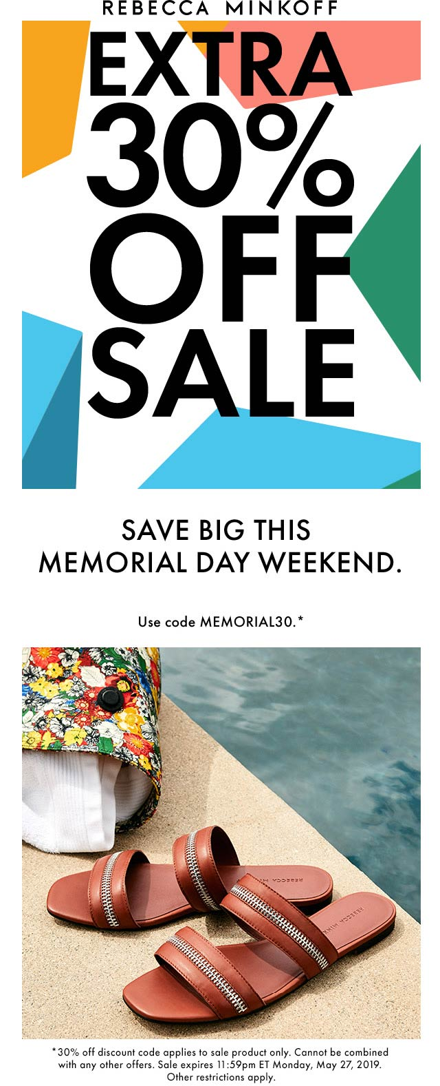 Rebecca Minkoff Coupon January 2020 Extra 30% off sale items at Rebecca Minkoff, or online via promo code MEMORIAL30