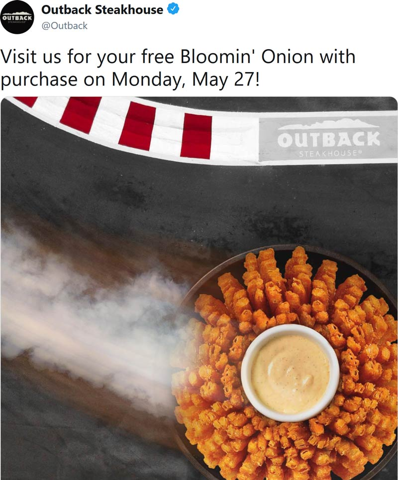 Outback Steakhouse coupons & promo code for [October 2020]