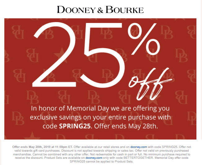 Dooney & Bourke coupons & promo code for [August 2020]
