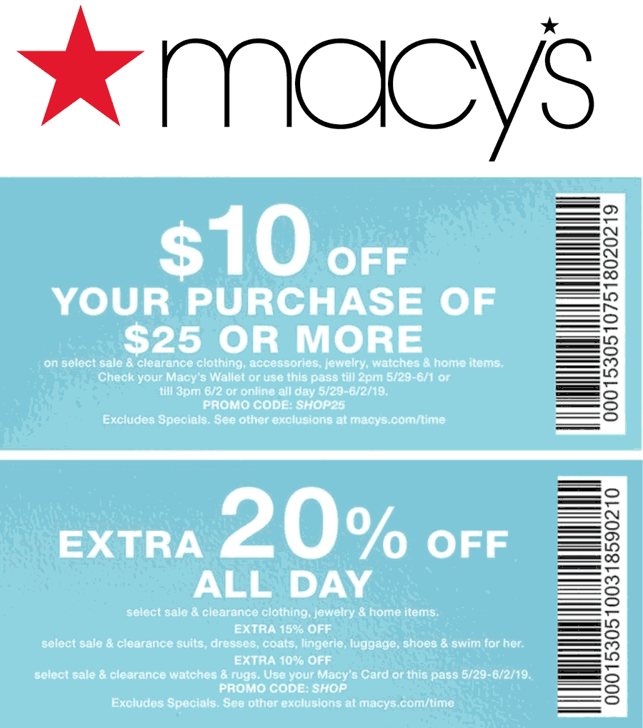 Macys Coupon November 2019 $10 off $25 & more at Macys, or online via promo code SHOP25