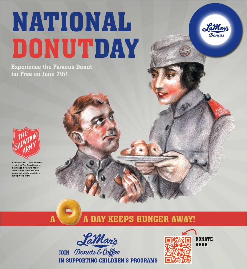 LaMars Coupon February 2020 Free doughnut the 7th at LaMars donuts