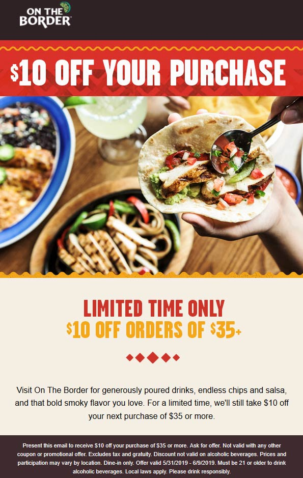 On The Border coupons & promo code for [January 2021]