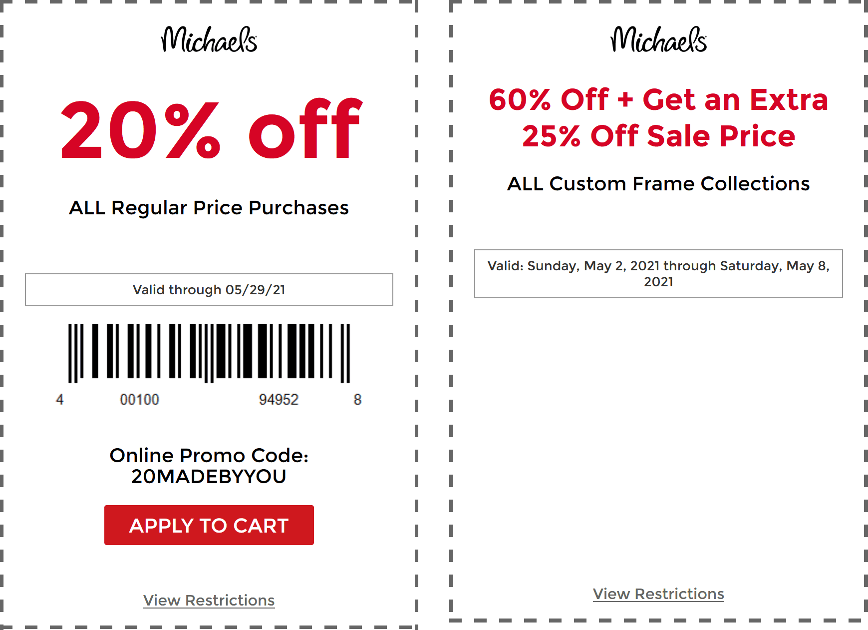 Michaels coupons & promo code for [July 2021]