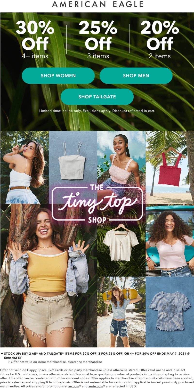 American Eagle coupons & promo code for [June 2021]