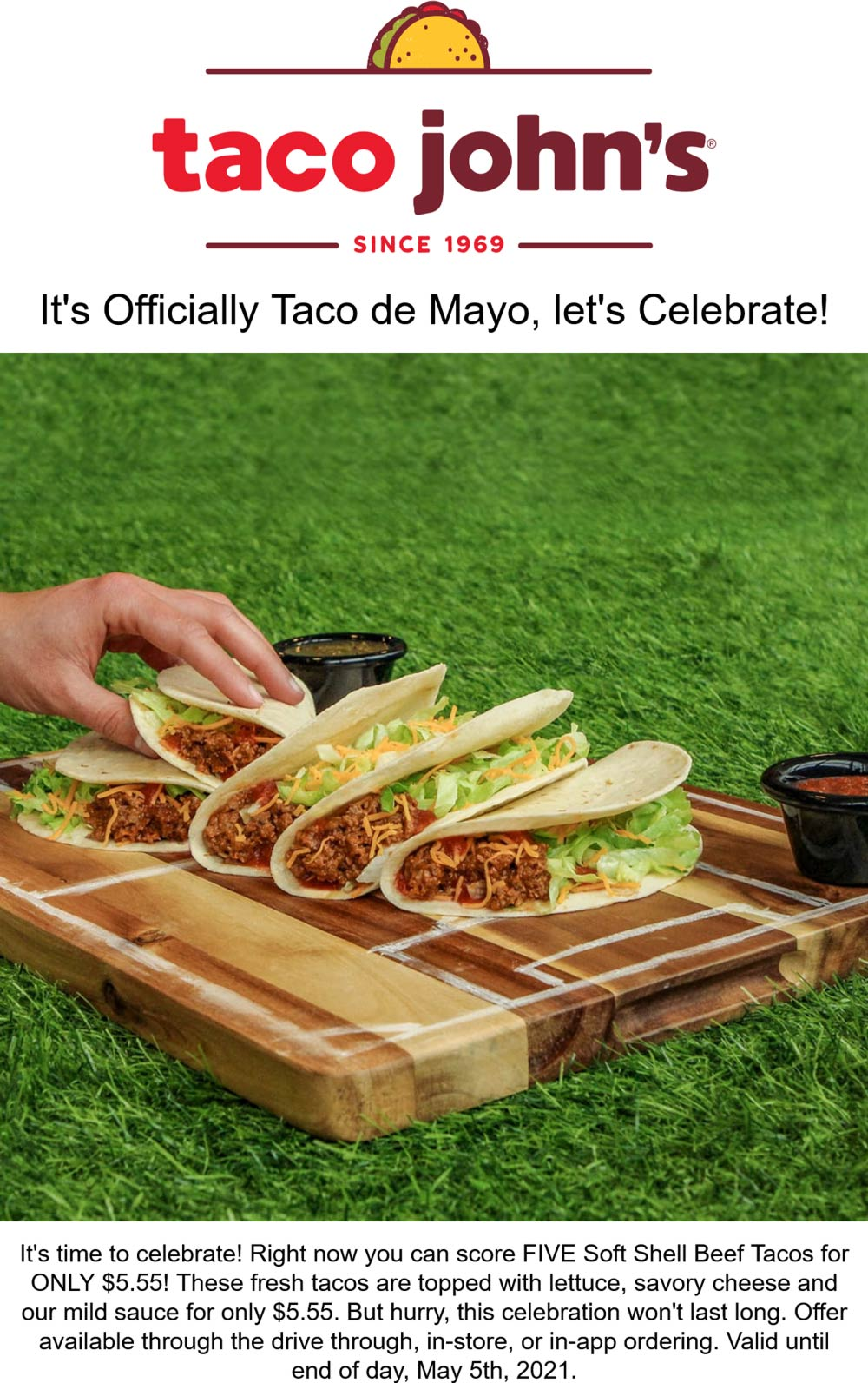Taco Johns coupons & promo code for [June 2021]