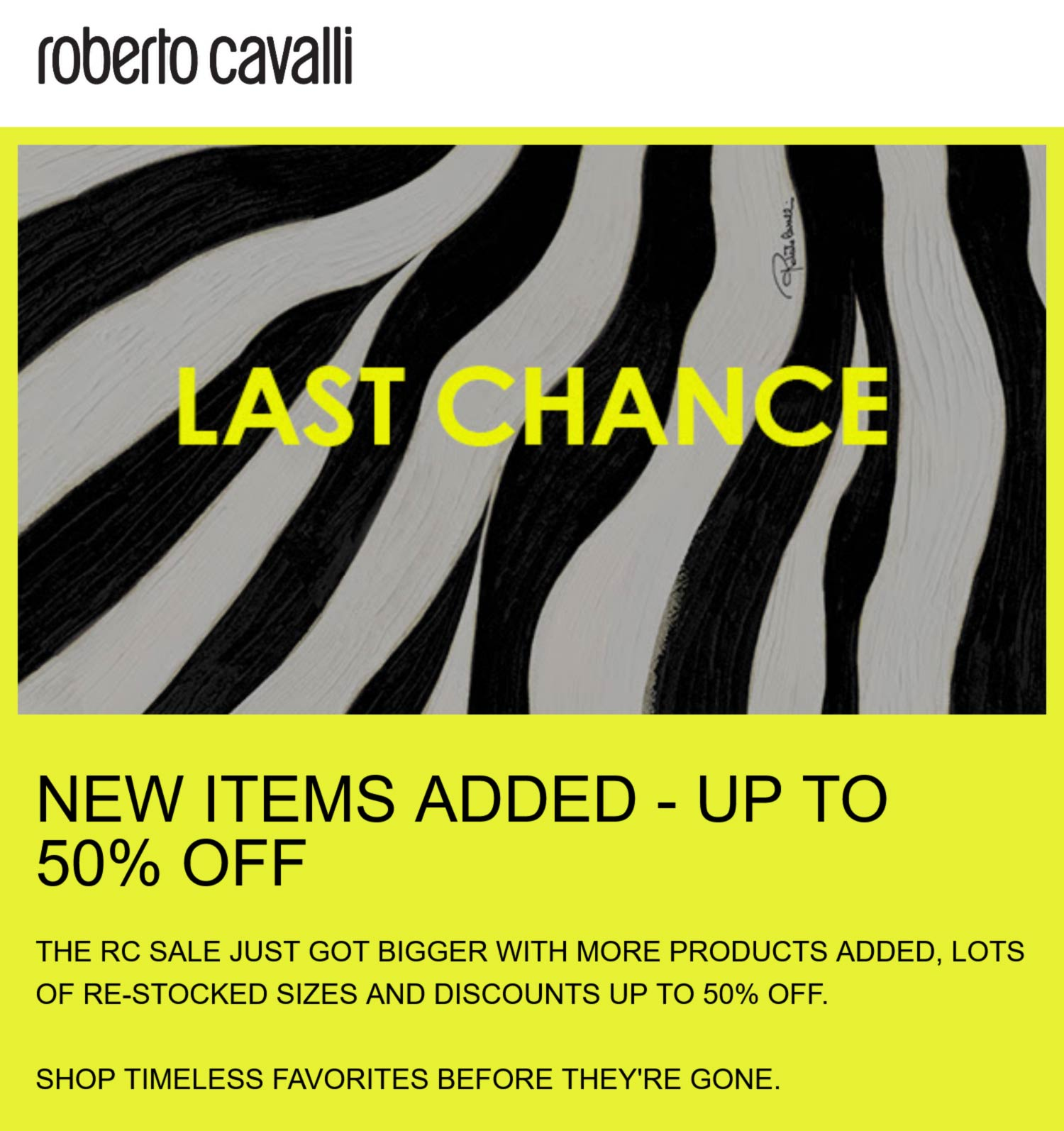 Roberto Cavalli stores Coupon  50% off going on at Roberto Cavalli #robertocavalli