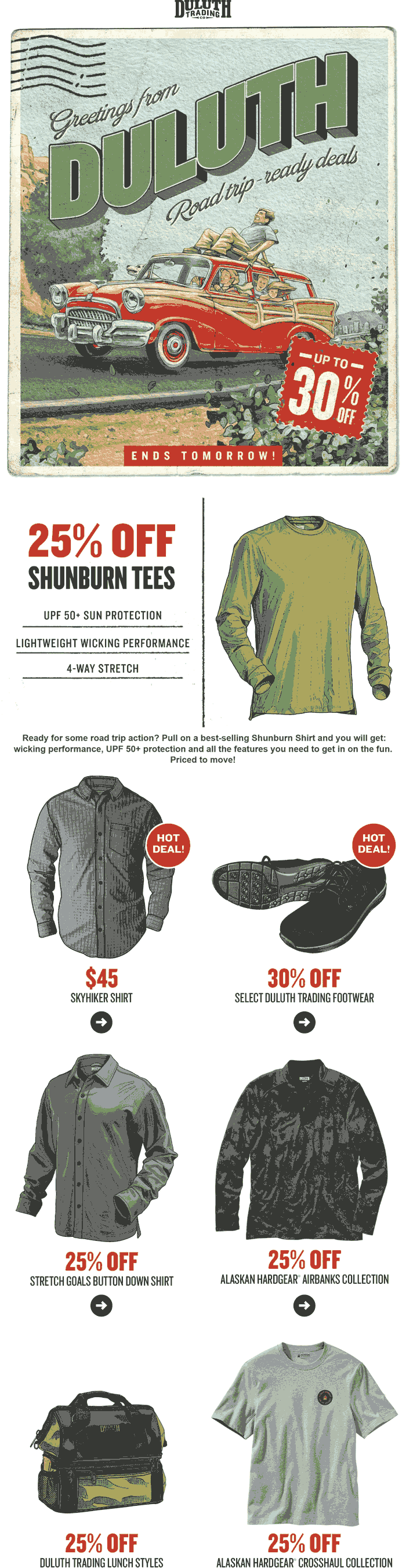 Duluth Trading Co stores Coupon  25% off Summer shirts at Duluth Trading Co #duluthtradingco
