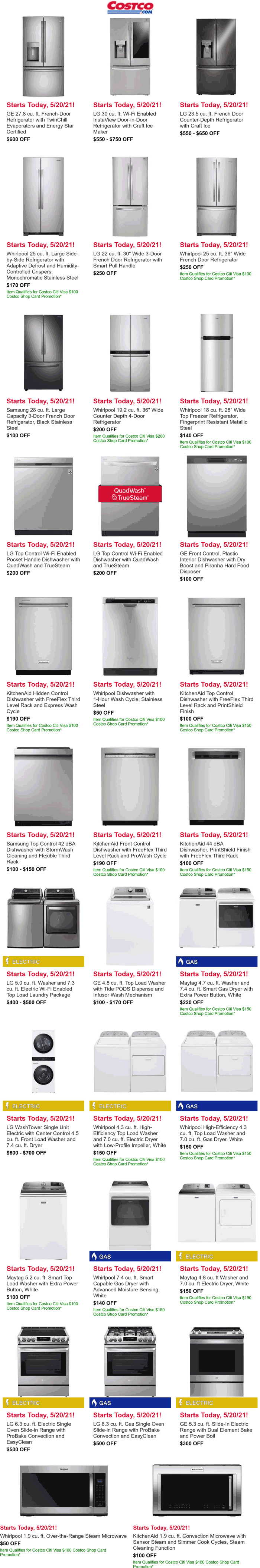 Costco stores Coupon  Major appliance sale pricing going on at Costco #costco