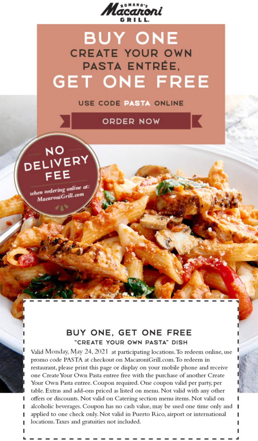 Macaroni Grill restaurants Coupon  Second pasta entree free today at Macaroni Grill #macaronigrill