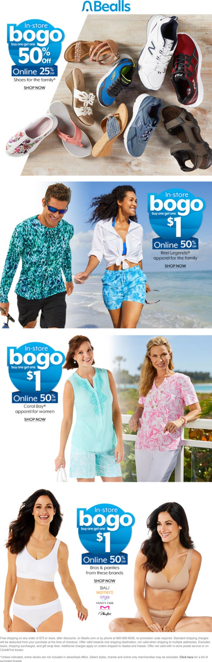 Bealls stores Coupon  Second item for $1 or 50% off today at Bealls, ditto online #bealls