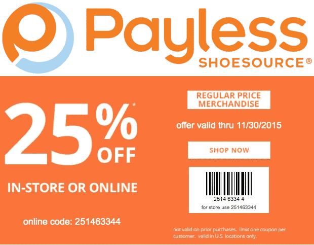 Payless Shoesource November 2020