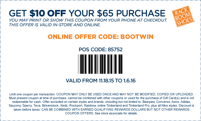 Rack Room Shoes December 2020 Coupons