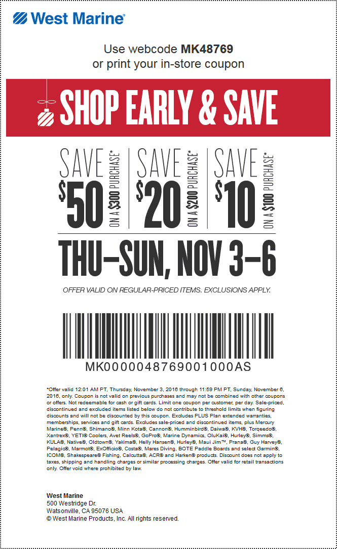 west marine coupon