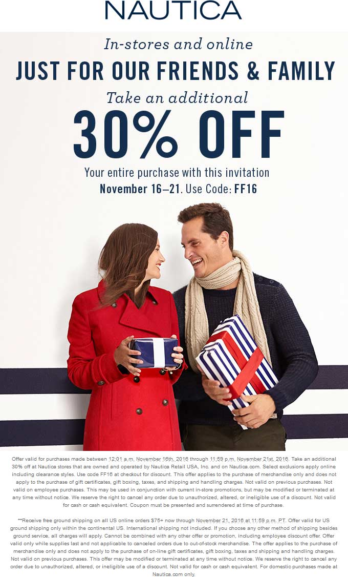 Nautica in store coupons