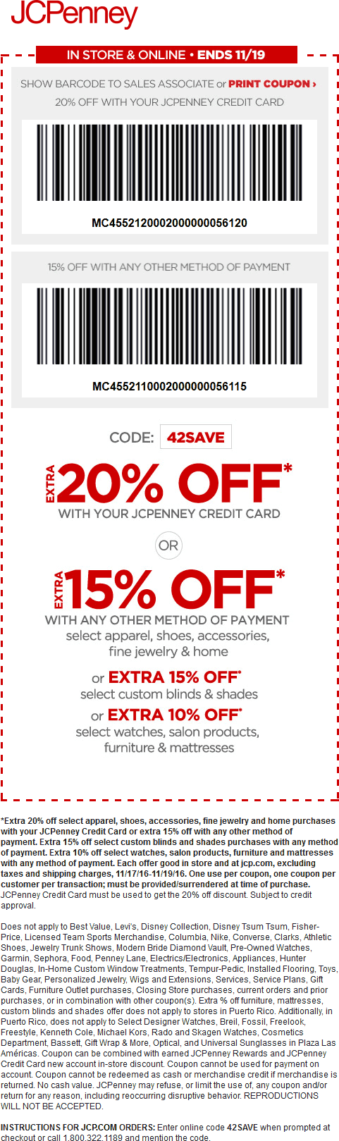 Jcpenney Coupons 10 Off 25 At Jcpenney Or Online Via