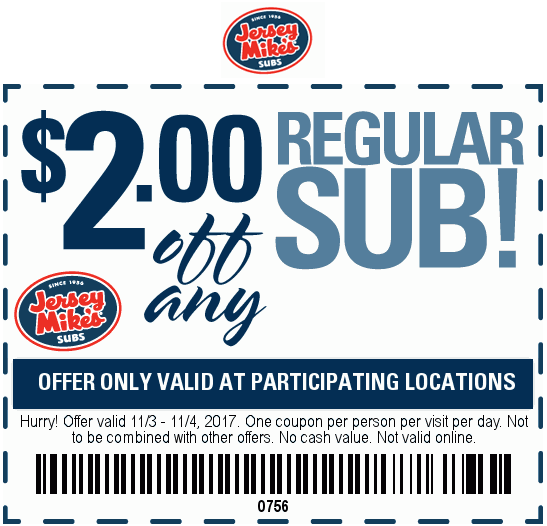 Shop with Jersey Mike's Promo Code, Save with Valuecom.com