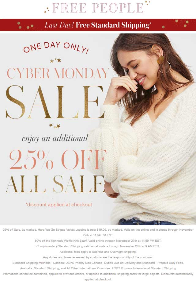 5cd04196873b Free People Coupons - Extra 25% off sale items online today at Free ...