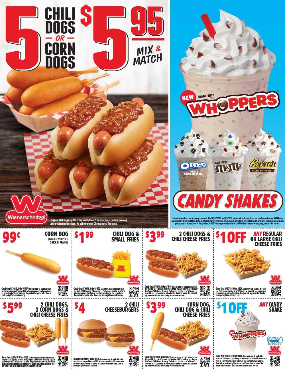 Wienerschnitzel coupons & promo code for [August 2020]