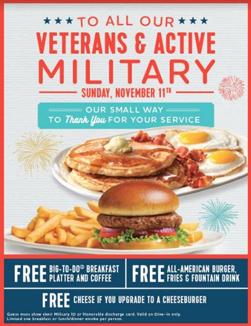 Friendlys Coupon August 2020 Military enjoy a free meal Sunday at Friendlys