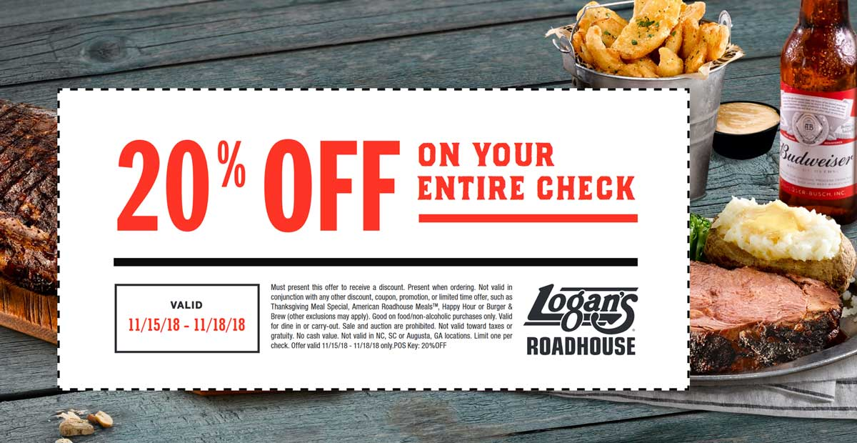 Logans Roadhouse coupons & promo code for [April 2020]