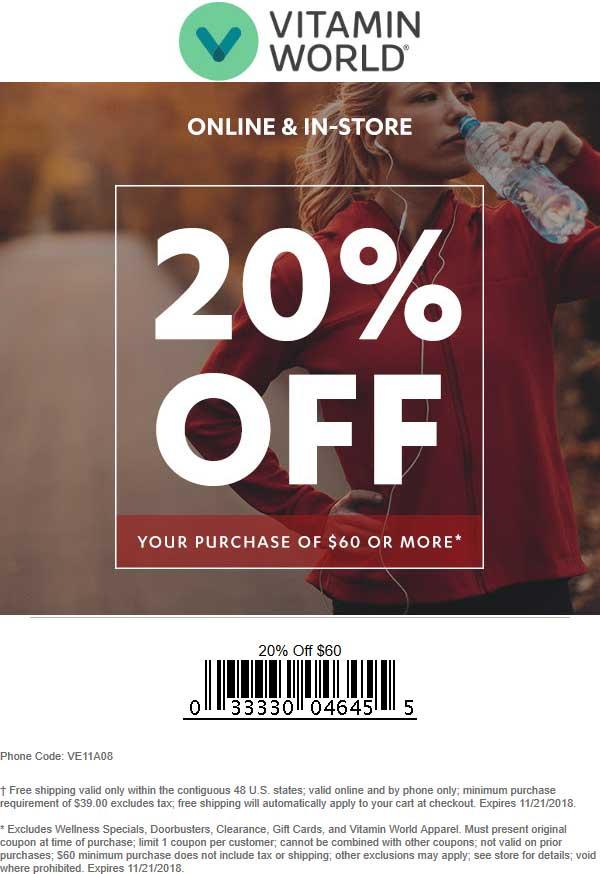 Vitamin World coupons & promo code for [September 2020]