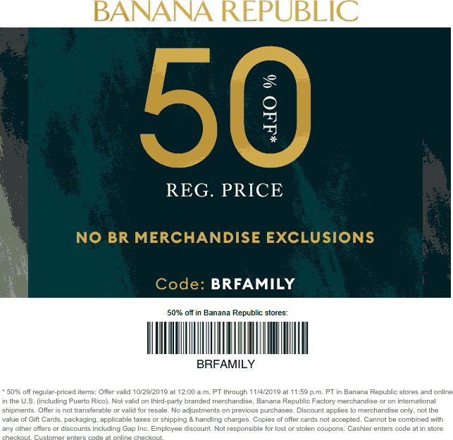 Banana Republic coupons & promo code for [September 2020]