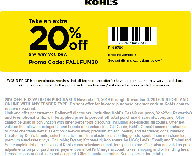 Kohls coupons & promo code for [January 2021]