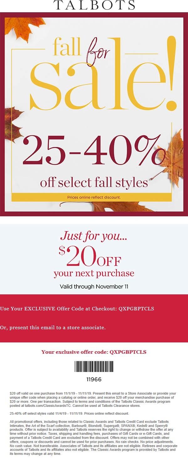 Talbots coupons & promo code for [March 2021]