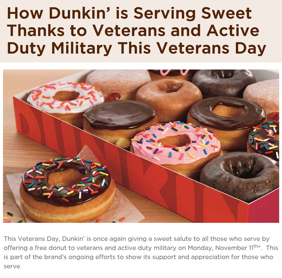 Dunkin Donuts coupons & promo code for [April 2021]