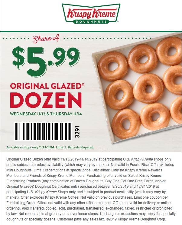 Krispy Kreme coupons & promo code for [August 2021]